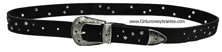 BELT WITH BUCKLE AND METAL TOE -3 COLORS-
