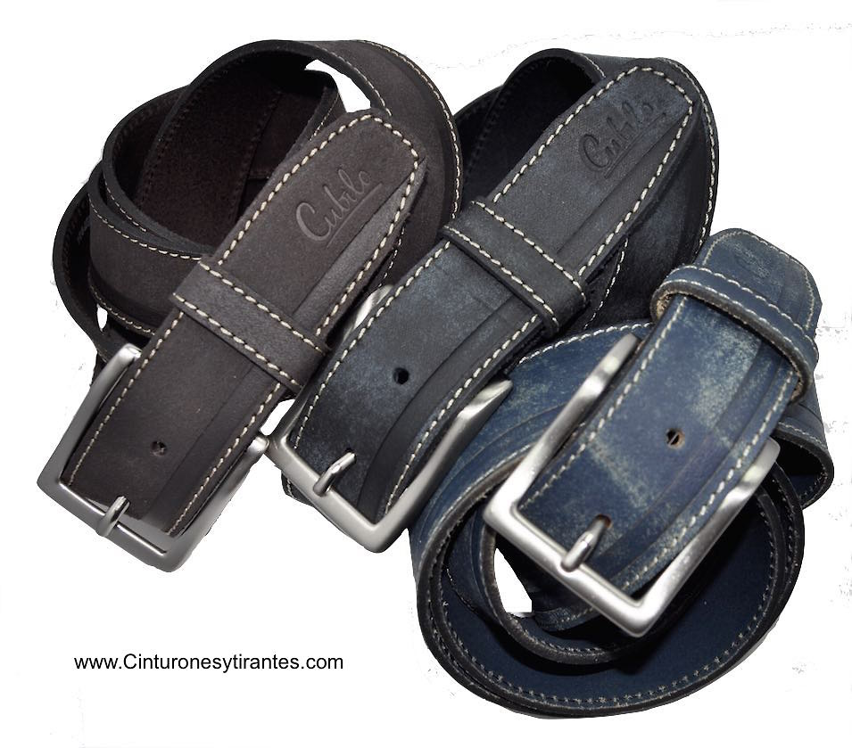 BRAND BELT MAN'S IN WORNED LEATHER