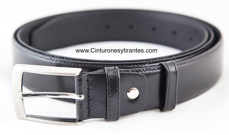 cinturón hombre talla grande de piel negro