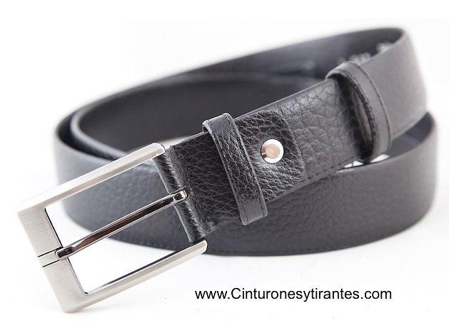 cinturón talla grande con billetero interior negro