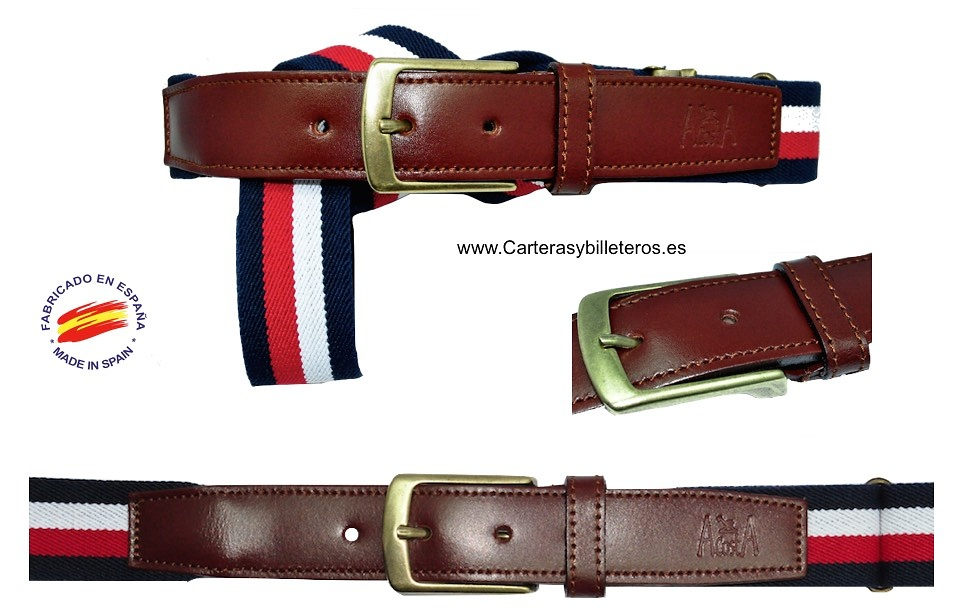 ELASTIC BELTS LEATHER POINTE -6 COLORS-