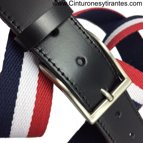 EXTRA STRONG LEATHER AND CANVAS BELT FOR MEN