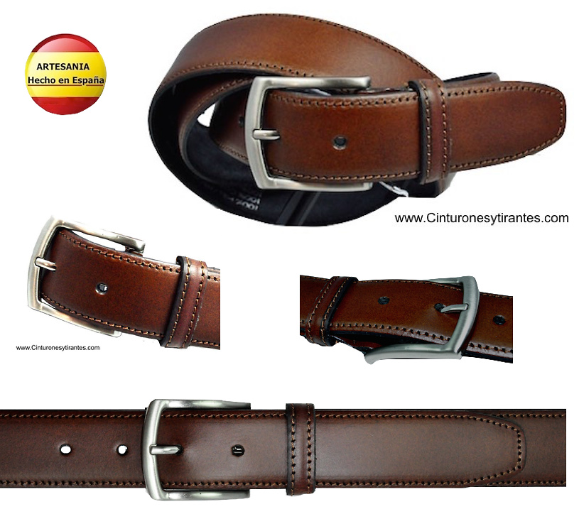 LEATHER BELT WITH SADDLE
