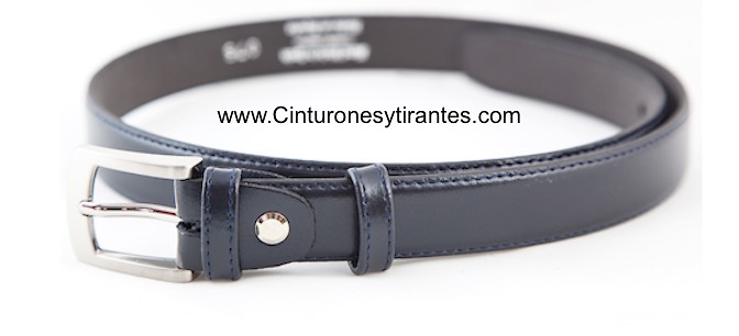LEATHER COW BELT FOR BOY
