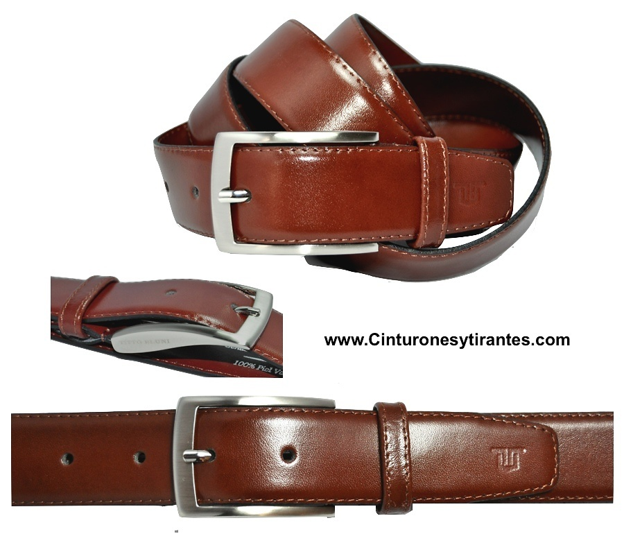 TITTO BLUNI LEATHER BELT LUXURY FOR MEN