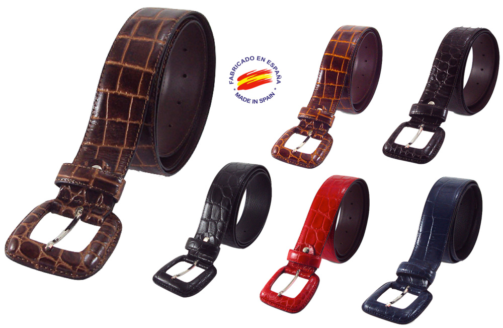 WOMEN BELT LEATHER WITH BUCKLE LINED COCONUT WIDTH