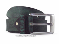AUTHENTIC EFFECT LEATHER BELT