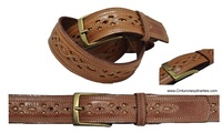 BELT MAN WITH LEATHER CRAFT WORK MADE IN SPAIN PICADO