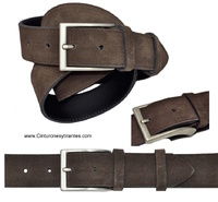 BELT MEN MADE IN LEATHER  BRAND  CUBILO - TWO COLORS -