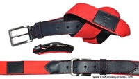 BLUNI TITTO BELT MEN  HIGH QUALITY LEATHER AND CANVAS