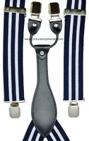 BRACES FOR MAN STRIPES NAVE BLUE AND WHITE