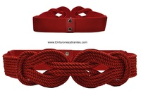 BRAIDED CORD BELT WOMEN WITH CLOSE DOUBLE KNOT