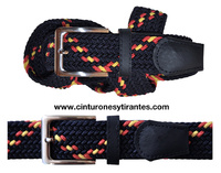 BRAIDED ELASTIC BELT WITH THE COLORS OF SPAIN