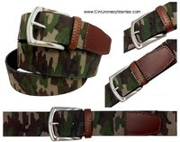 CAMOUFLAGE BELT MADE OF WIDE LEATHE