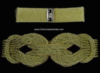 DOUBLE KNOT BELT IN LUXURY BRAIDED CORD