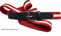 ELASTIC AND LEATHER BELT FOR MEN