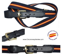 ELASTIC BELT THREE ARMIES FLAG SPAIN - 4 COLORS -