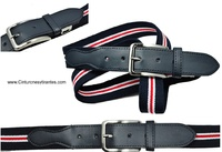 ELASTIC BELT WITH EXTRA-STRIPE BELT WITH QUALITY BUCKLE STRIPED
