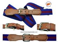 ELASTIC BELT WITH LEATHER POINTE  -3 COLORS-