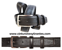 GENTLEMAN BELT FOR BUFFALO LEATHER DRESS WITH TRIPLE STITCHED