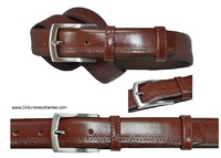 GENTLEMAN BELT LUXURY LEATHER DRESS