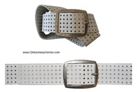 GIRL BELT LEATHER WITH DRAFT DRAWING ON LEATHER