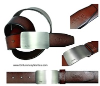 LEATHER BELT JEEP WITH UPPER BUCKLE