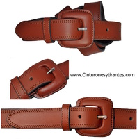 LEATHER BELT WITH BUCKLE SHEATHED -NO ALERGIAS-