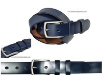 LEATHER BELT WITH SATIN FINISH LARGE SIZES