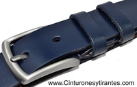 LEATHER BELT WITH SATIN FINISH