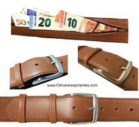 LEATHER BUCKET BELT WITH GREAT CAPACITY