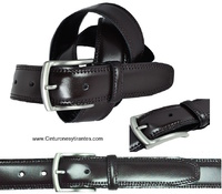 LUXURY DOUBLE SEWED LEATHER BELT