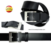 MEN'S LEATHER BELT WIDTH 4 CMS.- S