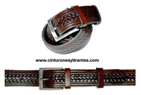 MENS LEATHER BELT WITH DRAWING RECORDED
