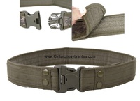 MILITARY TACTICAL BELT WITH PRESSURE CLOSURE