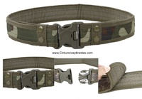 MILITARY TACTICAL CAMOUFLAGE BELT WITH PRESSURE CLOSURE