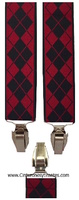 SUSPENDERS MAN IN REDS DIAMOND AND BLACKS