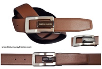 TITTO BLUNI  LEATHER BELT MEN REVERSE  AND BUCKLE DESIGN