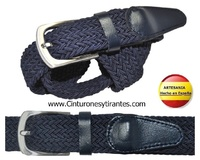 TWISTED BELT RUBBER AND LEATHER MADE IN SPAIN