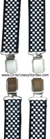 VERY COMFORTABLE BRACES WITH  CLIP PRINT BLACK AND WHITE SQUARES