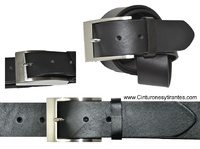 WIDTH LEATHER BELT AND LONG SIZE