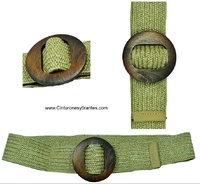 WOMEN BELT FIBER VEGETABLE WITH BUCKLE DEMADERA AND SHAPE OF THE WAIST