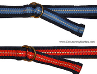 WOVEN RIBBON BELT WITH CHILD LOCKING RING